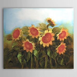Hand Painted Oil Painting Floral Sunflower 1303-FL76