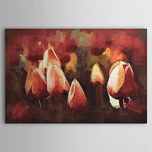 Hand Painted Oil Painting Floral Tulip 1303-FL0073