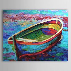 Hand Painted Oil Painting Landscape Boat 1303-LS0255