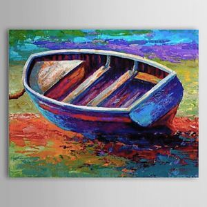 Hand Painted Oil Painting Landscape Boat 1303-LS0256