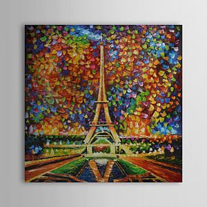 Hand Painted Oil Painting Landscape Eiffel Tower 1303-LS247