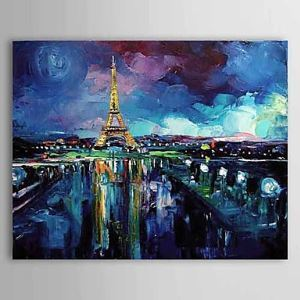 Hand Painted Oil Painting Landscape Eiffel Tower 1304-LS0270