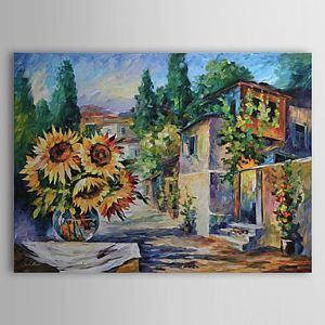 Hand Painted Oil Painting Landscape Floral 1303-LS0263