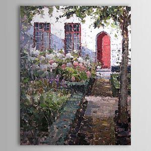 Hand Painted Oil Painting Landscape Floral 1303-LS0266