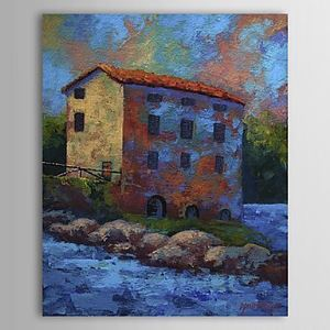 Hand Painted Oil Painting Landscape House 1303-LS0257