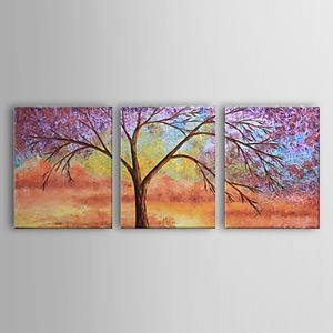 Hand-painted Oil Painting Landscape Set of 3 1302-LS0217