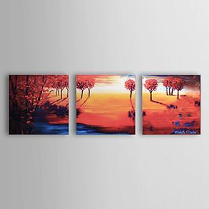 Hand-painted Oil Painting Landscape Set of 3 1302-LS0220