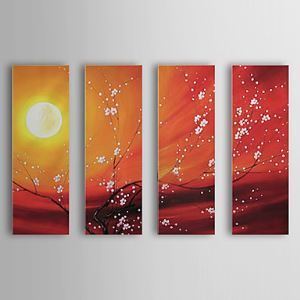 Hand-painted Oil Painting Landscape Set of 4 1302-LS0219