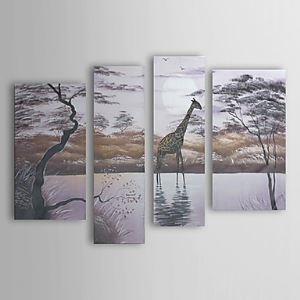 Hand Painted Oil Painting Landscape Set of 4 1303-LS241