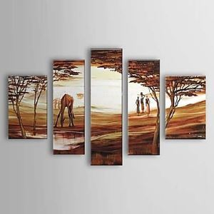 Hand Painted Oil Painting Landscape Set of 5 1303-LS0237
