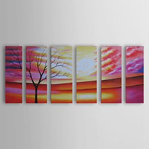 Hand Painted Oil Painting Landscape Set of 6 1303-LS242