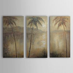 Hand Painted Oil Painting Landscape Trees Set of 3 1303-LS238