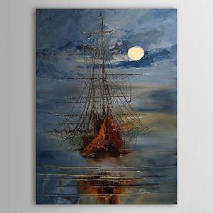 Hand Painted Oil Painting Landscape Vessel 1303-LS0250