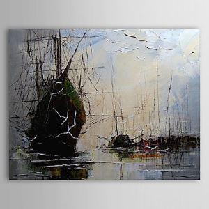Hand Painted Oil Painting Landscape Vessel 1303-LS0251