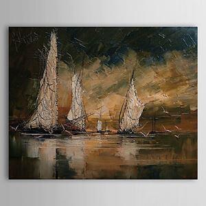 Hand Painted Oil Painting Landscape Vessel 1303-LS0252