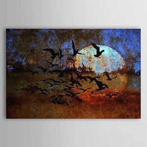 Hand Painted Oil Painting Landscape Wild Geese 1303-LS0267