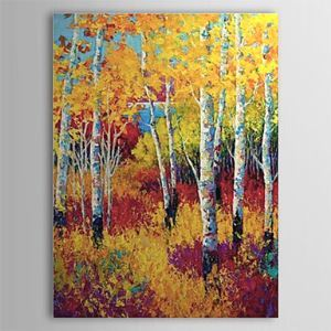 Hand Painted Oil Painting Landscape Yellow Forest 1303-LS0260