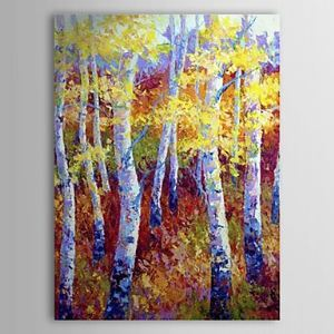 Hand Painted Oil Painting Landscape Yellow Forest 1303-LS0261