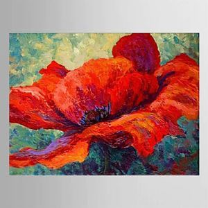 Hand Painted Oil Painting Red Floral 1303-FL0079