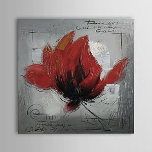 Hand Painted Oil Painting Red Floral 1303-FL75