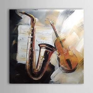 Hand Painted Oil Painting Still Life Musical Instrument 1303-SL0080