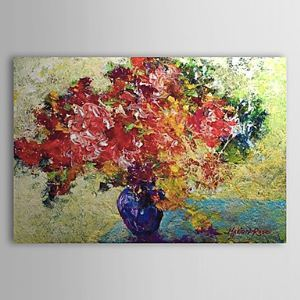 Hand Painted Oil Painting Still Life Flowers 1303-LS0267