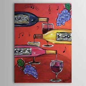 Hand Painted Oil Painting Still Life Wine 1303-SL0059