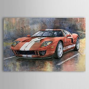 Hand Painted Oil Painting Transportation Racing Car 1303-SL0057