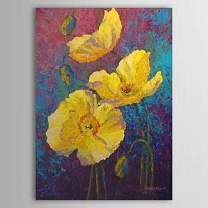 Hand Painted Oil Painting Yellow Floral 1303-FL0078