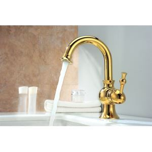 The Newest Gold Plated Single Handle Faucets
