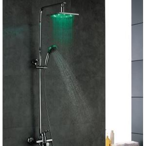 Antique High Quality Brass LED Shower Mixer
