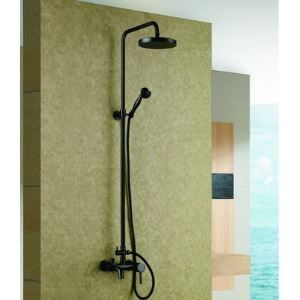 Solid Brass Antique Exposed Phone Style Bath Shower Faucet With Hand Shower