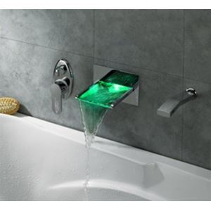 Three Colour Changing Led Lighting Waterfall Taps