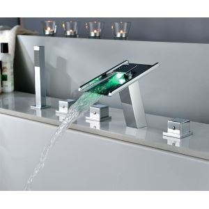 Special Design LED Waterfall Bathroom Faucet Shower