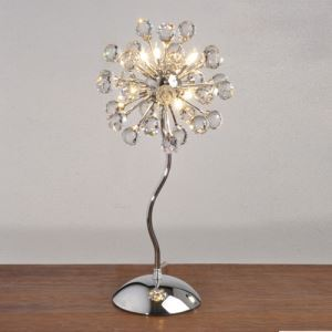 Crystal Table Light with 6 Lights (G4 Bulb Base)