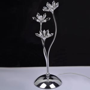 Table Crystal  Light  with 3 Lights - Floral Design (G4 Bulb Base)