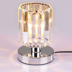Crystal Table Light With Cylinder Shape Design