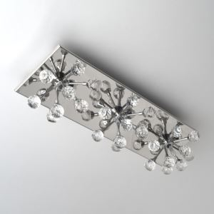 Crystal Wall Light with 3 Lights - Floral Shape