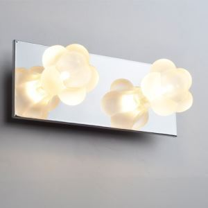 Modern/Contemporary Iron Wall Light With 2 Lights In Flower Electroplate Finished