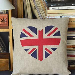 Union Jack Pattern Cotton Decorative Pillow Cases
