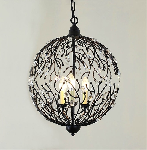 lights american country minimalist pendant light wrought iron cages. Black Bedroom Furniture Sets. Home Design Ideas
