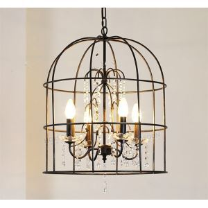 American Country Minimalist Wrought Iron Pendant Light