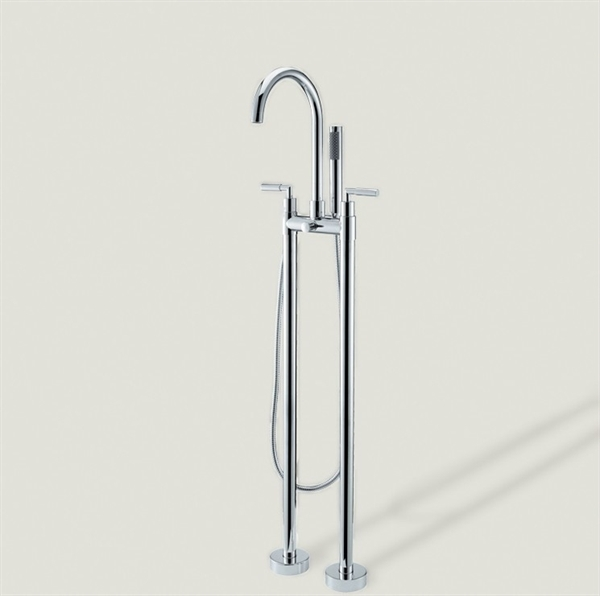 Faucets Bathtub Faucets Floor Standing Tub Faucet With Hand Shower Chro