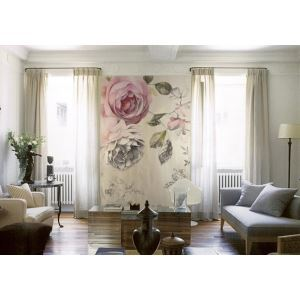 American Country Style Rose Vintage Non-Woven Paper Mural