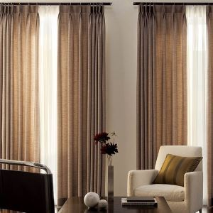 ( One Panel ) Contemporary Brown Solid Room Darkening Curtains(ML9036)