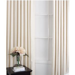 ( One Panel ) Conteporary Ivory Flocking Room Darkening Curtains (ML9125-2)