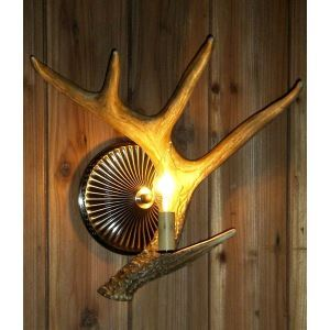(In Stock)Artistic Antler Featured Wall Light with 1 Light