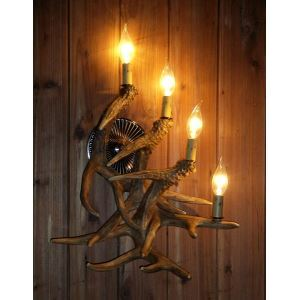 Artistic Antler Featured Wall Light with 4 Lights