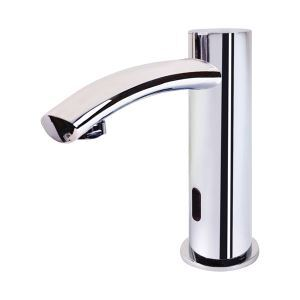 Chrome Finish Contemporary Style Deck Mounted Brass Sensor Bathroom Sink Faucets