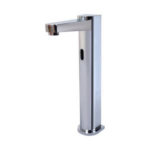 Chrome Finish Deck Mounted Contemporary Style Brass Sensor Bathroom Sink Faucets (High)
